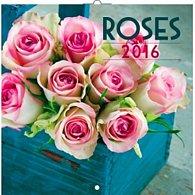 Kalendář nástěnný 2016 - Růže, poznámkový  30 x 30 cm