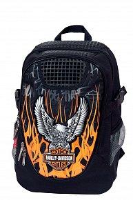 Batoh Target Harley Davidson  černo/oranžový