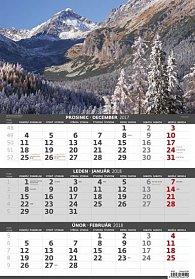 Kalendář nástěnný 2018 - 3měsíční/Hory
