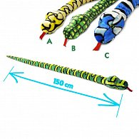 Plyšový had 150 cm