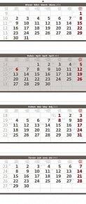 Kalendář nástěnný 2015 - Čtyřměsíční skl