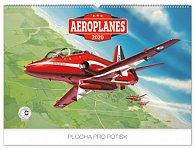 Kalendář nástěnný 2020 - Aeroplanes – Jaroslav Velc, 62 × 42 cm