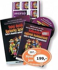 Komplet 2ks Tajný deník Barborky Syslové + CD Kalkulačka rodinné budoucnosti