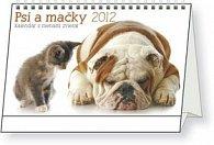 Psy a mačky kalendar so zvieracími meny - stolní kalendář 2012