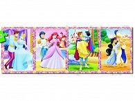 Puzzle 100 dílků Princezny panorama