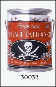 Tetování plechovka lebky