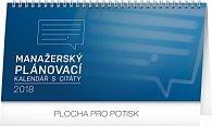 Kalendář stolní 2018 - Manažerský s citáty, 25 x 12,5 cm