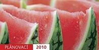 Plánovací kalendář červený 2010 - stolní kalendář