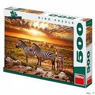 Puzzle Zebry na poušti
