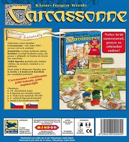 Náhled Carcassonne - rozšíření 1 (Hostince a katedrály)