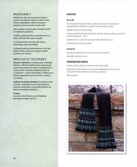 Náhled Pletené šály z celého světa - Různé styly, vzory, techniky a provedení