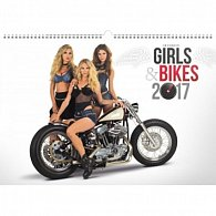 Kalendář nástěnný 2017 - Girls & Bikes/Jim Gianatsis