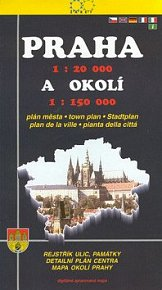 Praha 1:20 000 a okolí 1:150 000