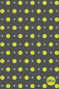 Diář 2014 - Hvězdy šedé - Týdenní magnetický (ČES, SLO, MAĎ, POL, RUS, ANG)