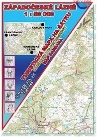 Západočeské lázně Šátek s mapou