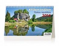 Kalendář 2014 - Křížem krážem Českou republikou - stolní