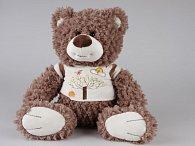 Medvěd sedící v tričku - design strom 30 cm