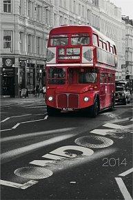 Diář 2014 - Londýn Jakub Kasl - Týdenní magnetický (ČES, SLO, MAĎ, POL, RUS, ANG)