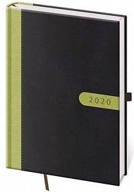 Diář 2020 - Bora/týdenní A5/černo/zelená