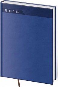 Diář 2015 - PRINT CLASSIC denní A5 - modrá