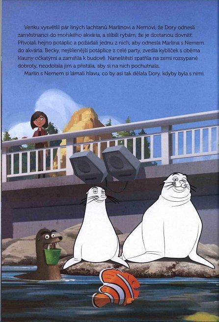 Náhled Hledá se Dory - Filmový příběh - Vybarvuj, čti si a nalepuj