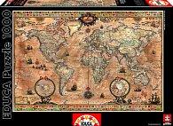 Puzzle Mapa světa Antique 1000 dílků