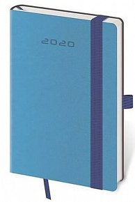 Diář 2020 - Flexies/týdenní/kapesní/modrá