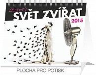 Kalendář 2015 - Zábavný svět zvířat - stolní týdenní