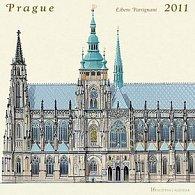 Kalendář 2011 - Praha - Libero Patrignani (30x60) nástěnný poznámkový