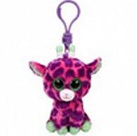 Plyš očka přívěšek růžová žirafa