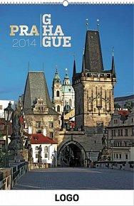 Kalendář 2014 - Praha Praktik - nástěnný s prodlouženými zády