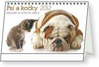 Kalendář stolní  2012 - Psi a kočky se zvířecími jmény, 23,1 x 14,5 cm