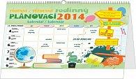 Kalendář 2014 - Týdenní rodinný plánovací s háčkem - nástěnný/stolní