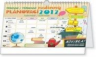 Kalendář nástěnný 2012 - Týdenní rodinný plánovací s háčkem, 30 x 21 cm