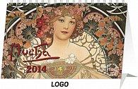 Kalendář 2014 - Alfons Mucha - stolní
