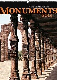 Kalendář 2014 - Monuments - nástěnný s prodlouženými zády