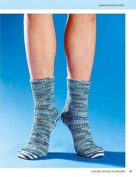 Náhled Ponožky pletené na kroužku - 50 jednoduchých návodů na pletení bez jehlic