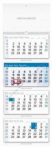Kalendář 2015 - Čtyřměsíční modrý nástěn