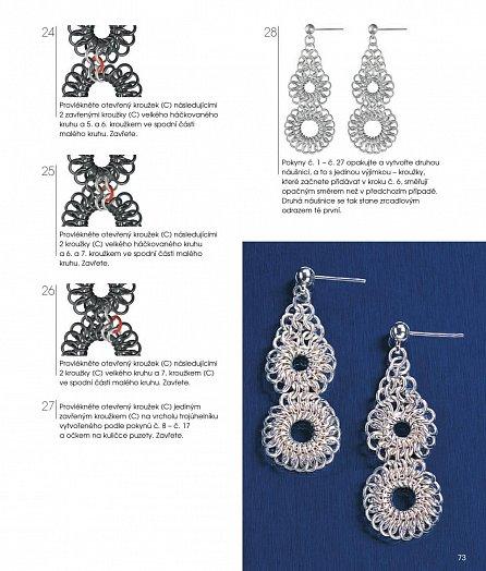 Náhled Šperky z kovových kroužků