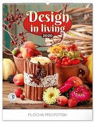 Kalendář nástěnný 2020 - Design in Living, 48 × 56 cm