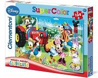 Puzzle Supercolor 104 dílků Mickey na farmě