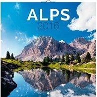 Kalendář nástěnný 2016 - Alpy, poznámkový  30 x 30 cm