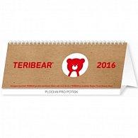 Kalendář stolní 2016 - Teribear plánovací, 2016, 30 x 12,5 cm