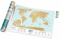 Stírací mapa světa Travel Map Holiday Lagon