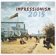 Kalendář 2015 - Impresionismus - nástěnný s prodlouženými zády