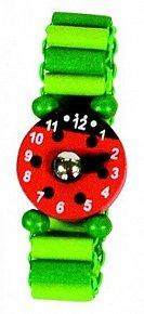 Dřevěné hodinky - Zelené