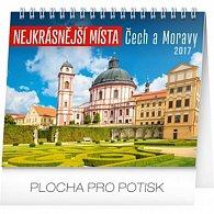 Kalendář stolní 2017 - Nejkrásnější místa Čech a Moravy
