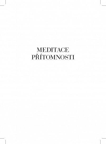 Náhled Meditace přítomnosti - Praxe životní bdělosti