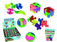 Guma školní puzzle kostičky a kuličky 4 ks