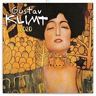 Kalendář poznámkový 2020 - Gustav Klimt mini, 18 × 18 cm